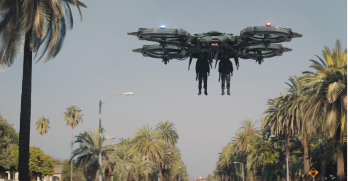 Code 8, een film met futuristische politie-drones