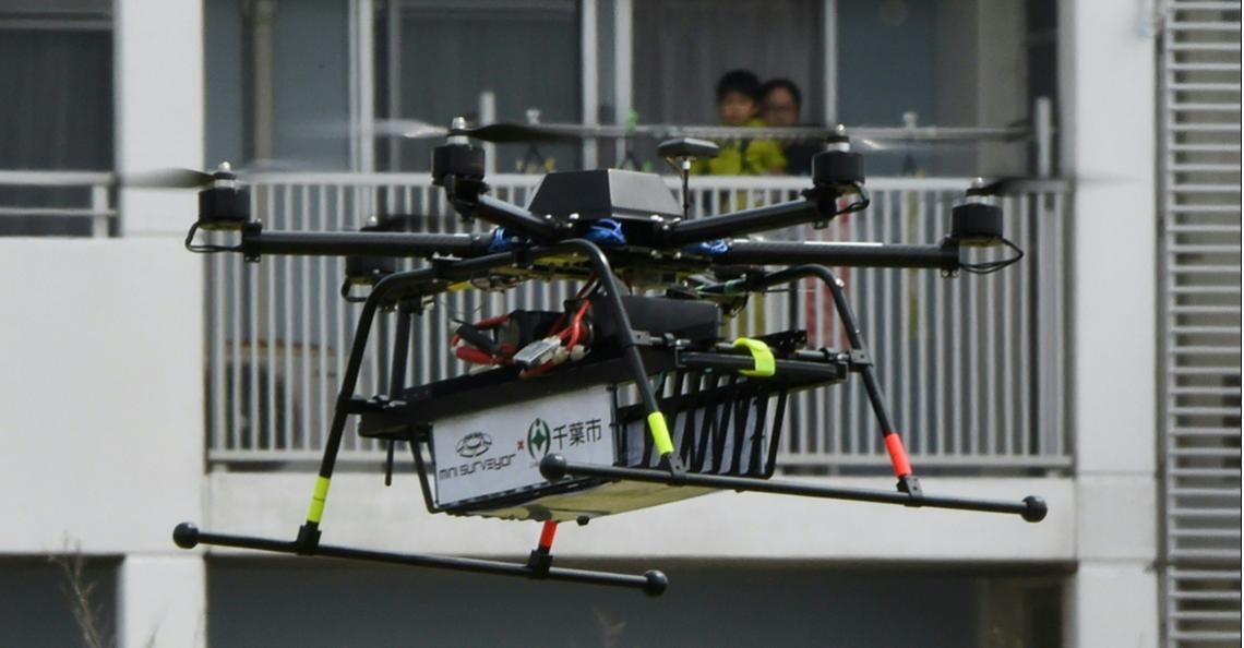 Japan start test met bezorgdrones boven woonwijken in Chiba