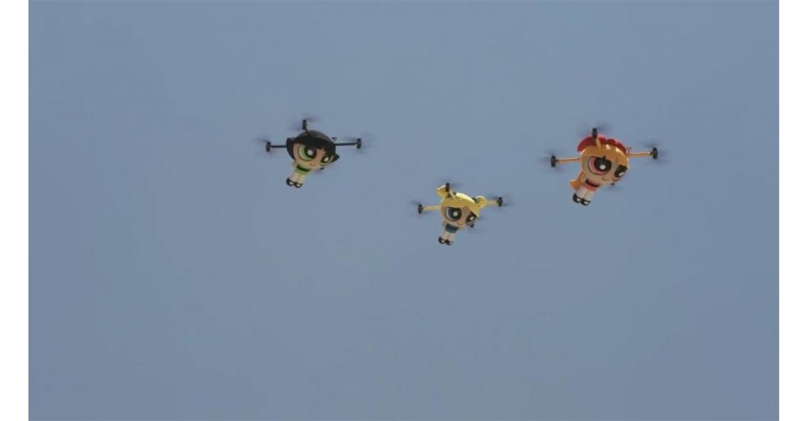 Nederlands bedrijf maakt met drones een promo-video van The Powerpuff Girls in Dubai
