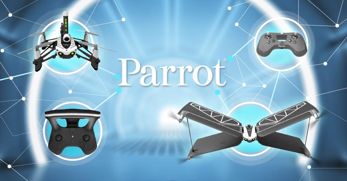 Parrot introduceert binnenkort mogelijk 2 nieuwe Minidrones én compact-skycontroller