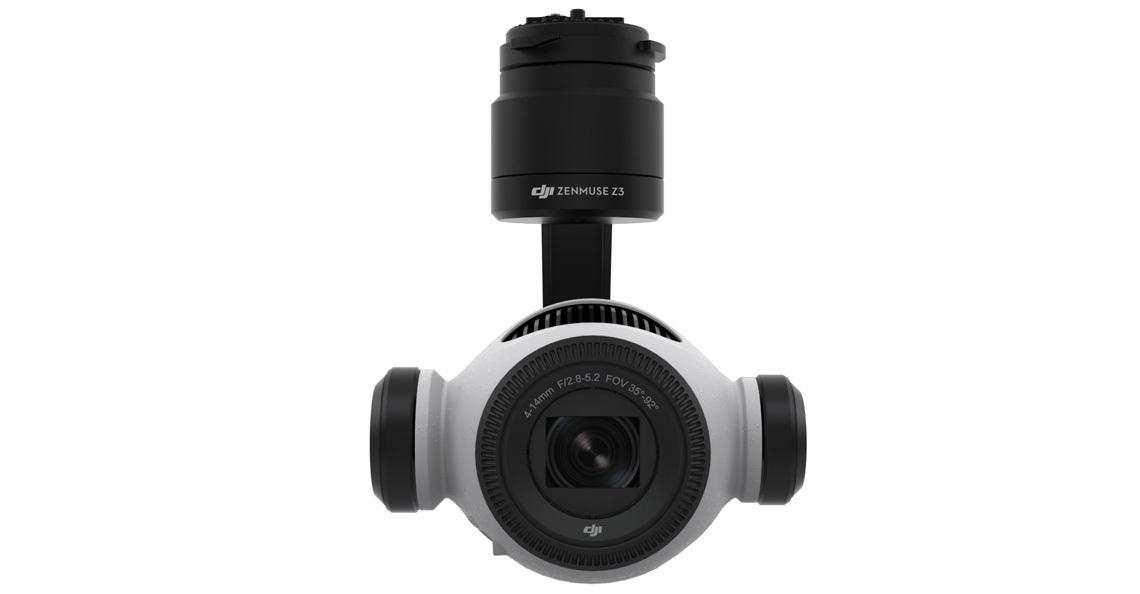 DJI presenteert de nieuwe Zenmuse Z3 camera met zoom functie