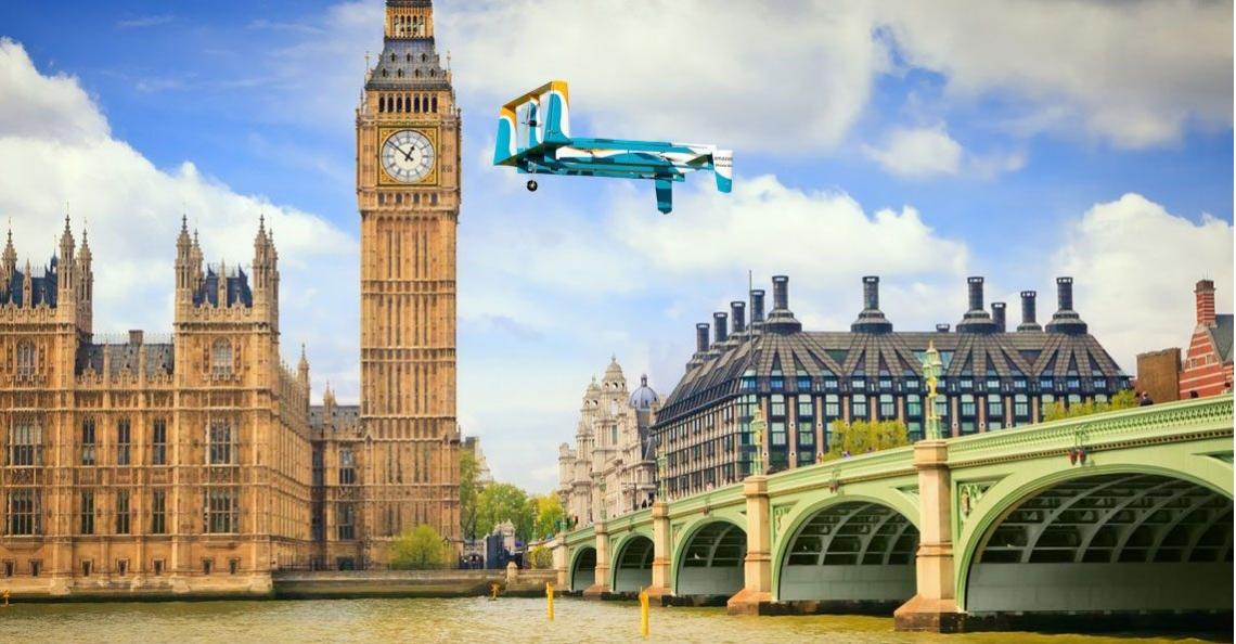 Amazon krijgt toestemming voor drone testvluchten in Verenigd Koninkrijk