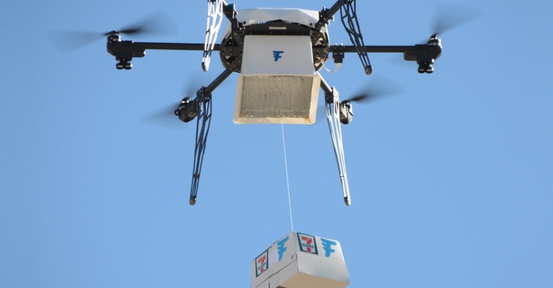 Flirtey drone bezorgt boodschappen 7-Eleven