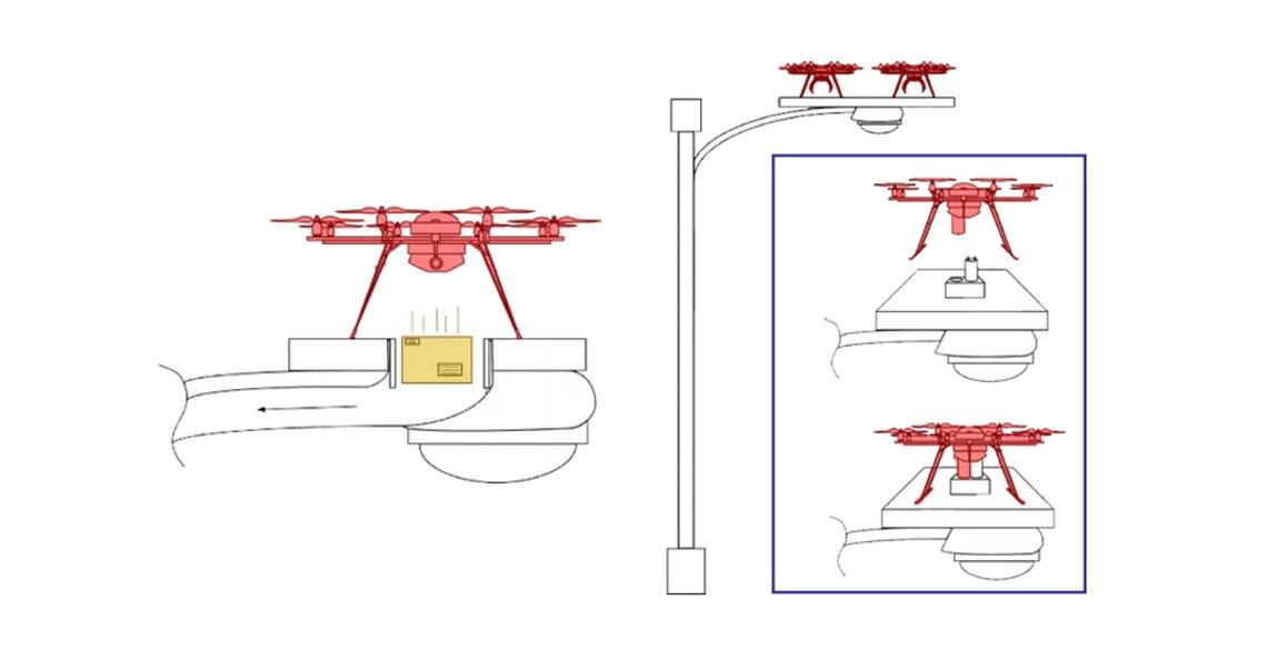 Nieuwe patenten Amazon tonen thuishavens voor bezorgdrones