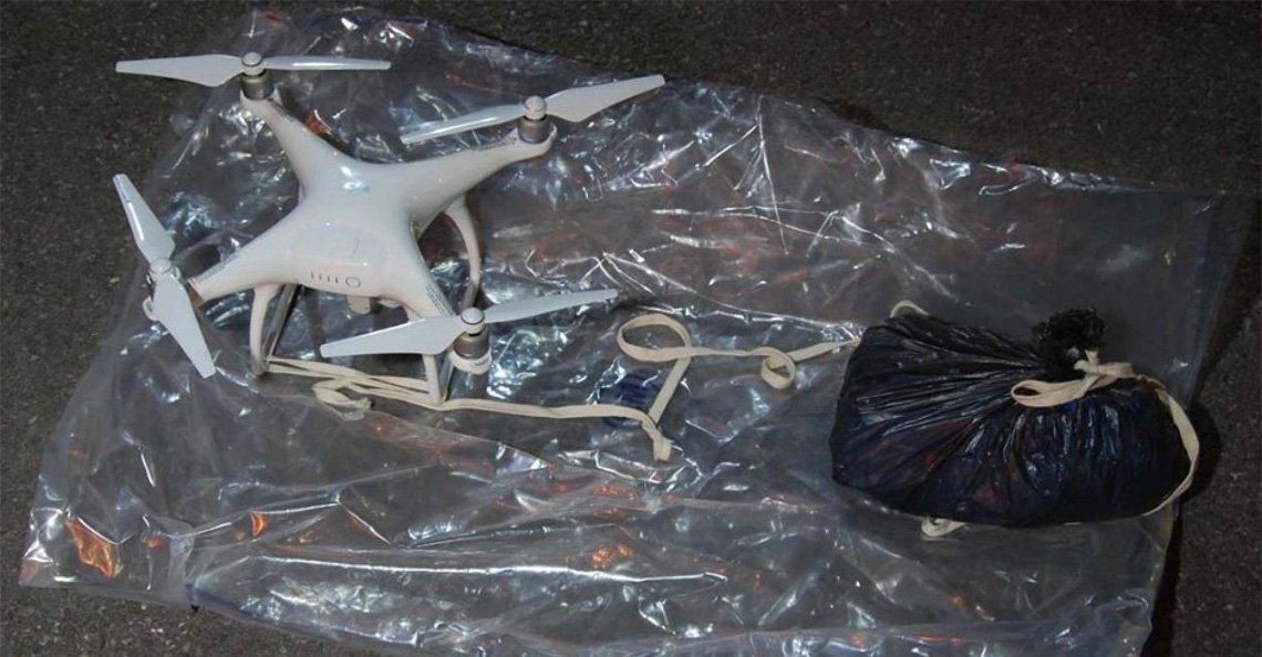 Britse politie onderschept DJI Phantom 4 smokkeldrone bij gevangenis