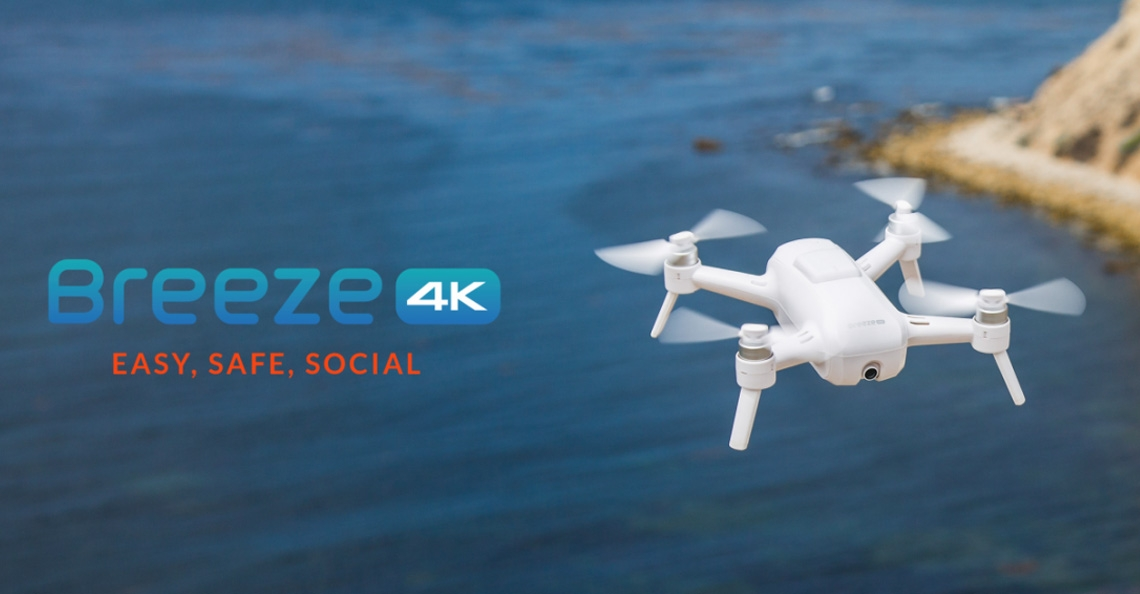 Yuneec presenteert Breeze 4K-camera drone