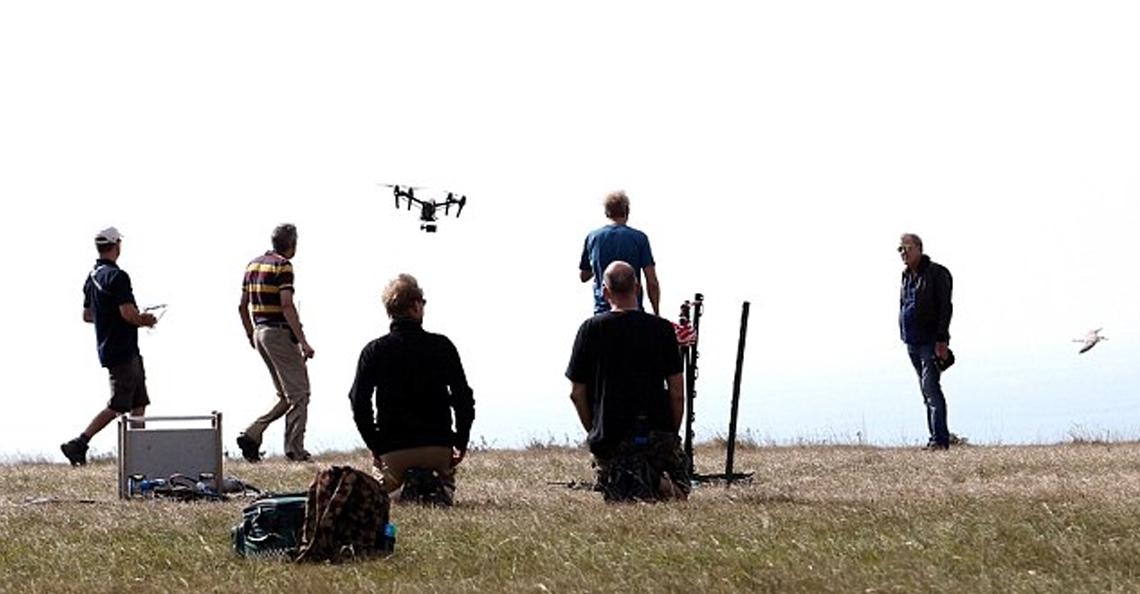 Drone opnames nieuw autoprogramma Jeremy Clarkson voor Amazon Prime
