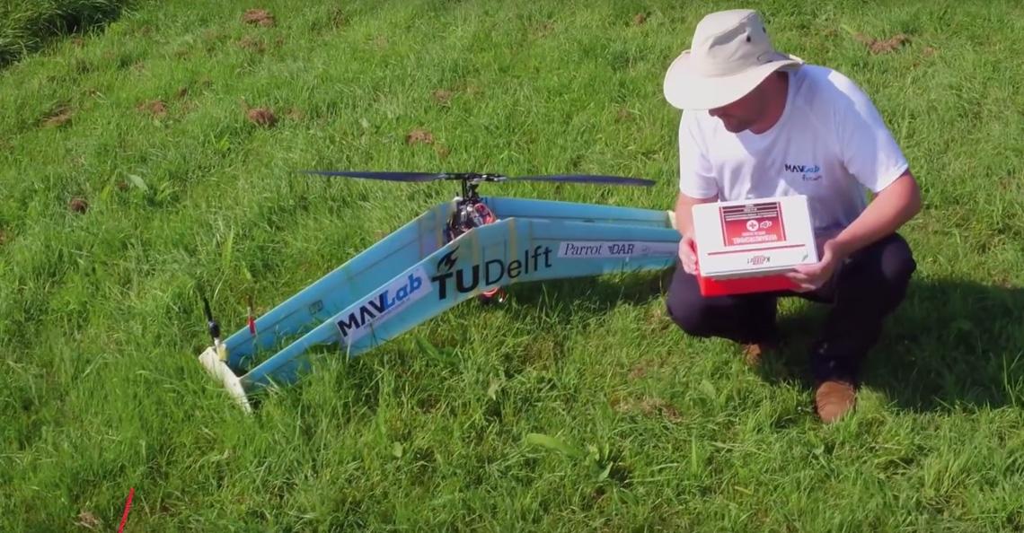 Onderzoekers TU Delft MAVlab presenteren delftAcopter