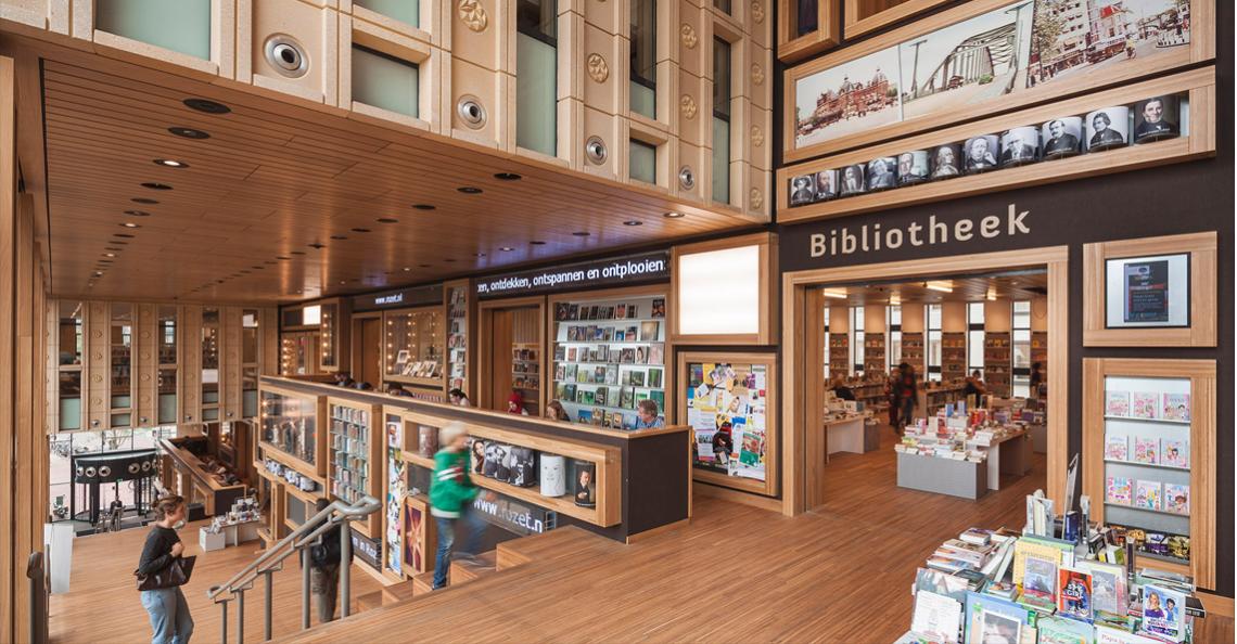 Dronerace in bibliotheek tijdens INNOVATE Arnhem