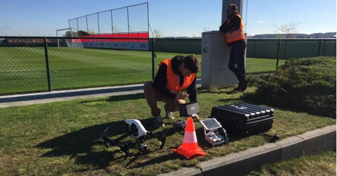 Training Rode Duivels op verzoek van bondscoach Martinez gefilmd met drone