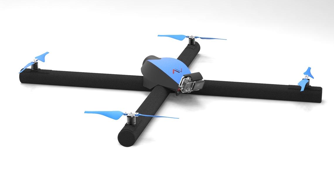 Ontwikkeling opblaasbare Diodon drone in volle gang
