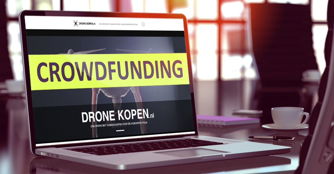 Webshop Dronekopen.nl start crowdfunding project