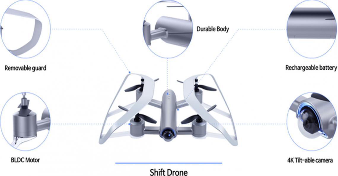 Shift ontwikkelt drone met One Hand Control systeem
