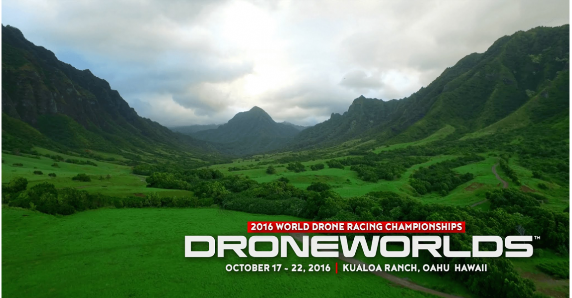 Dit weekend: 2016 World Drone Racing Championships in Hawaii