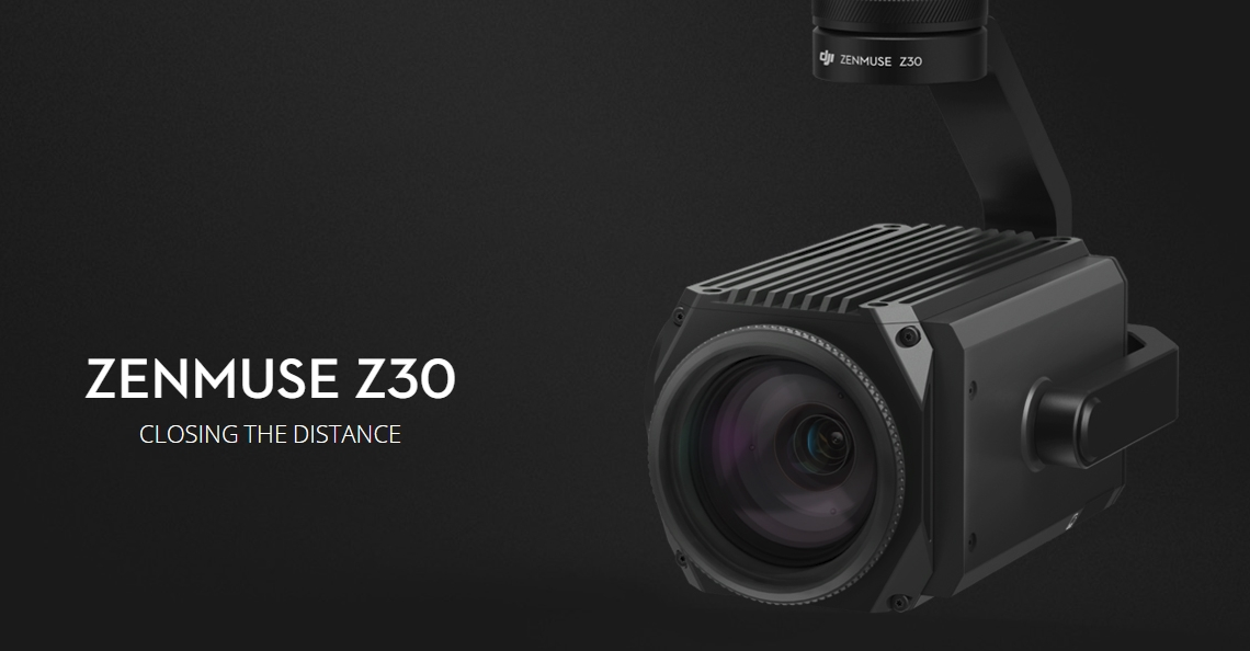 DJI introduceert Zenmuse Z30 zoom camera