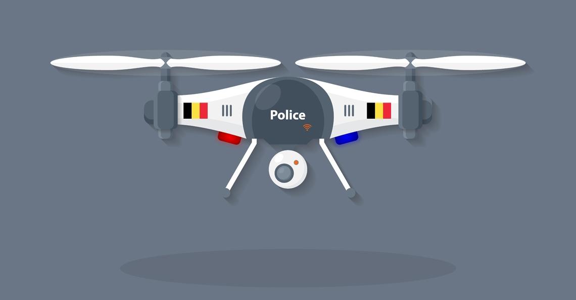 Belgische politie zet drones in bij zoektocht naar migranten Calais