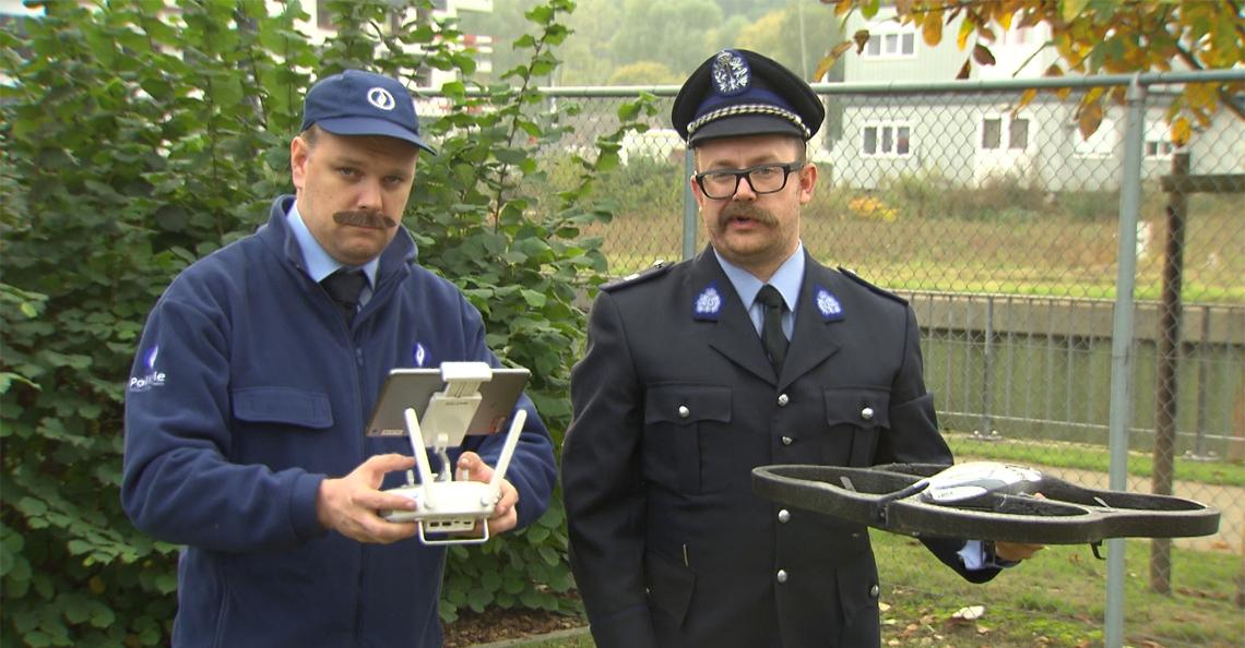 Zo zoekt de Belgische politie met drones naar migranten