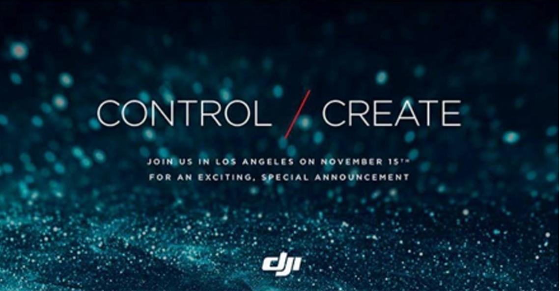 DJI presenteert mogelijk nieuwe Inspire 2 drone op 15 november