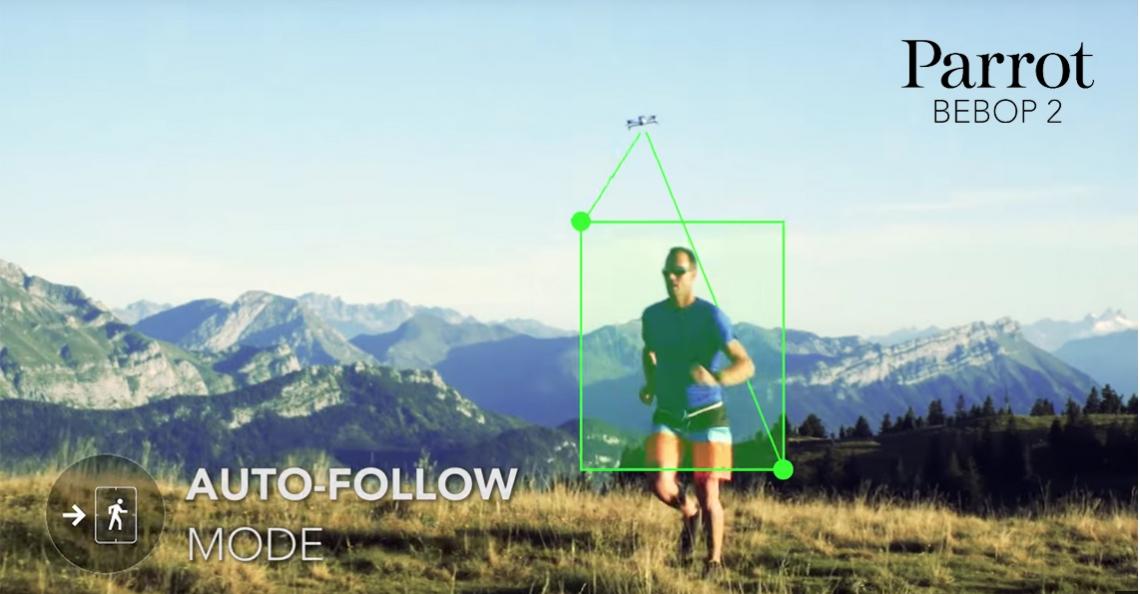 Parrot voegt volg-functies toe aan Bebop 2 drone