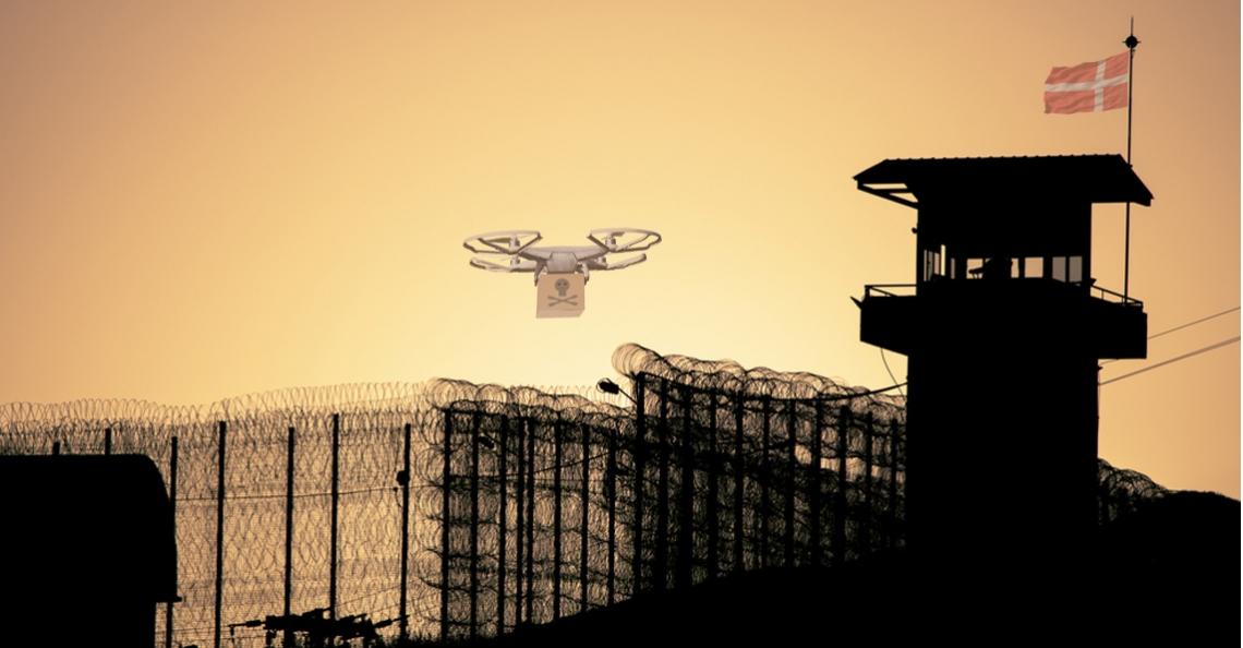 Drone bezorgt Deense gevangene zaag