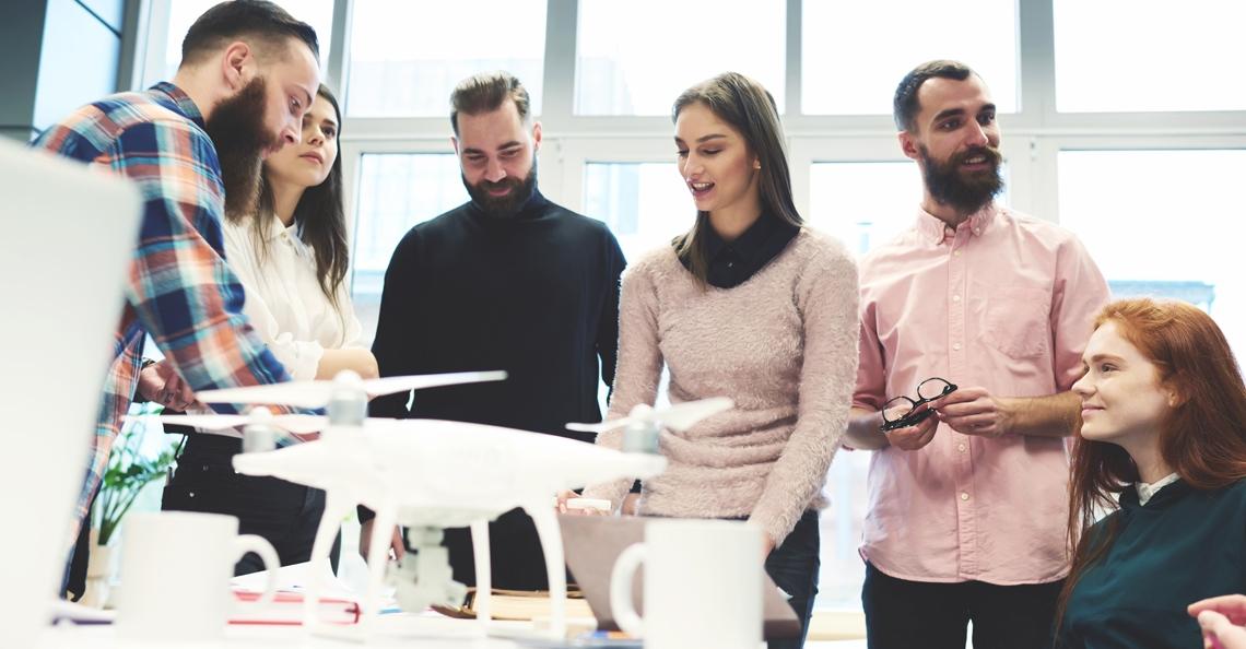Drone vliegen nieuw keuzevak op ROC Twente