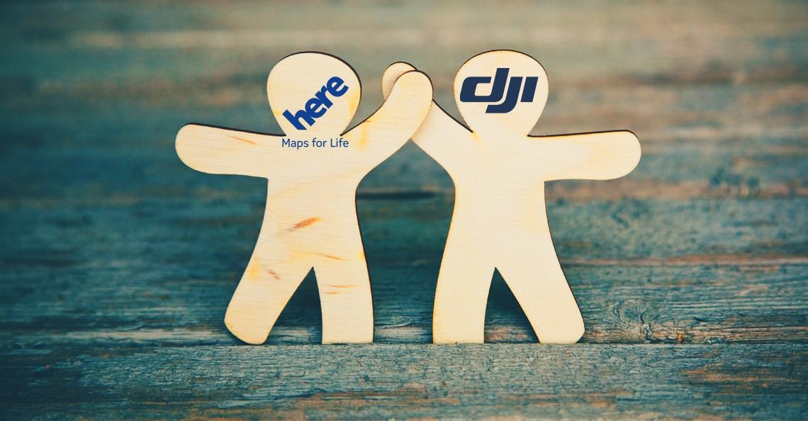 DJI en HERE sluiten partnerschap voor kaartdata