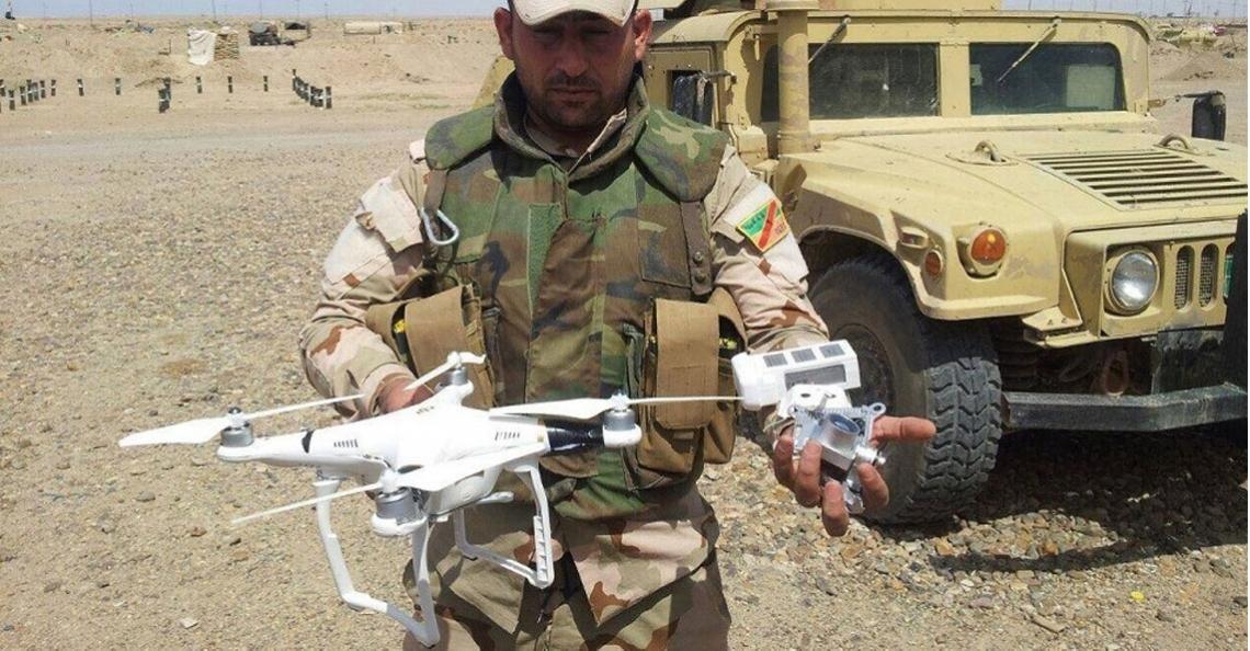 IS gebruikt consumenten-drones om bommen te droppen in Irak