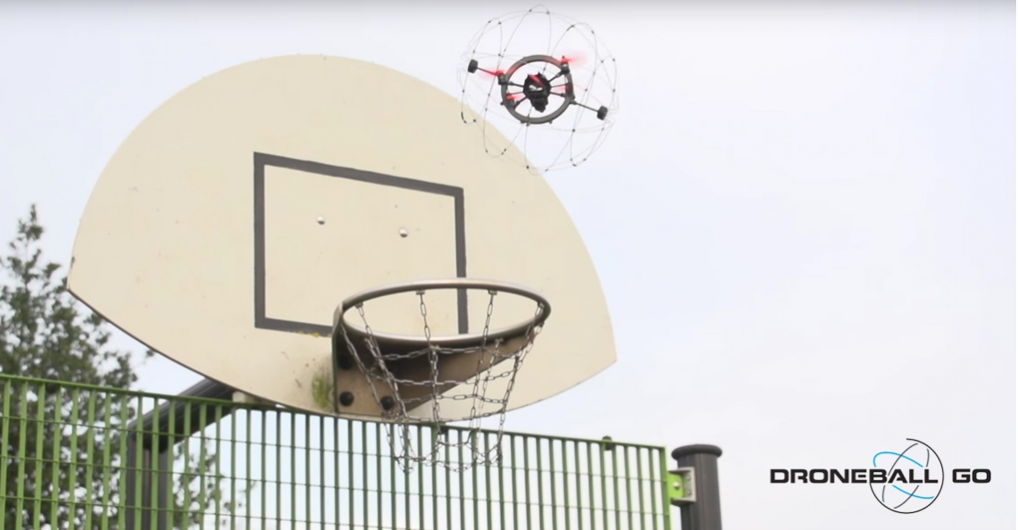 Droneball Go drone is niet te crashen