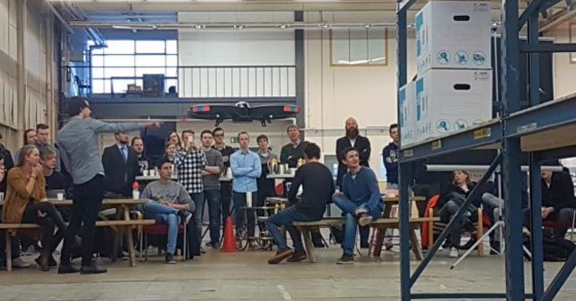 Geslaagd drone-experiment van studenten in Zwolle