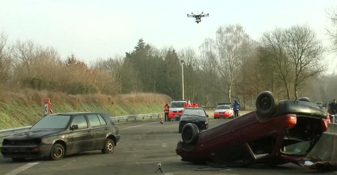 Belgische politie zet drones in bij verkeersongevallen