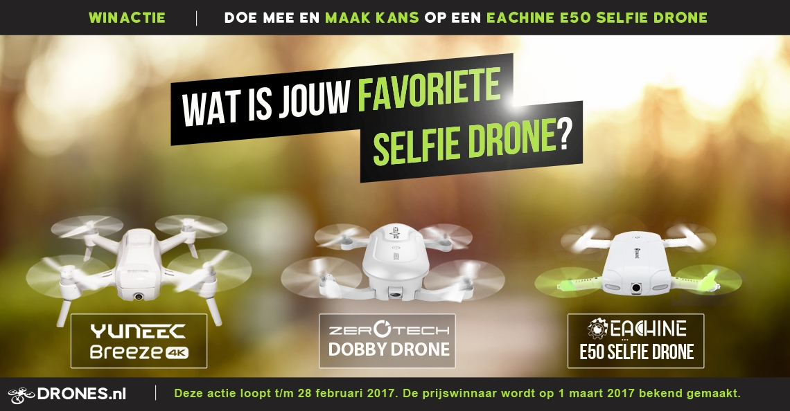 Winactie: Wat is jouw favoriete Selfie drone?