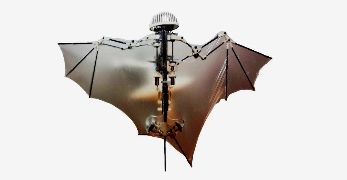 Amerikaanse wetenschappers bouwen kruising tussen vleermuis en drone