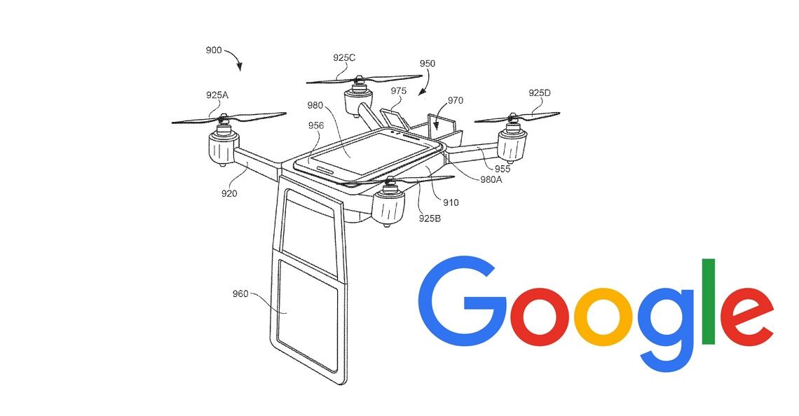 Google vraagt nieuw patent aan voor kantoordrone