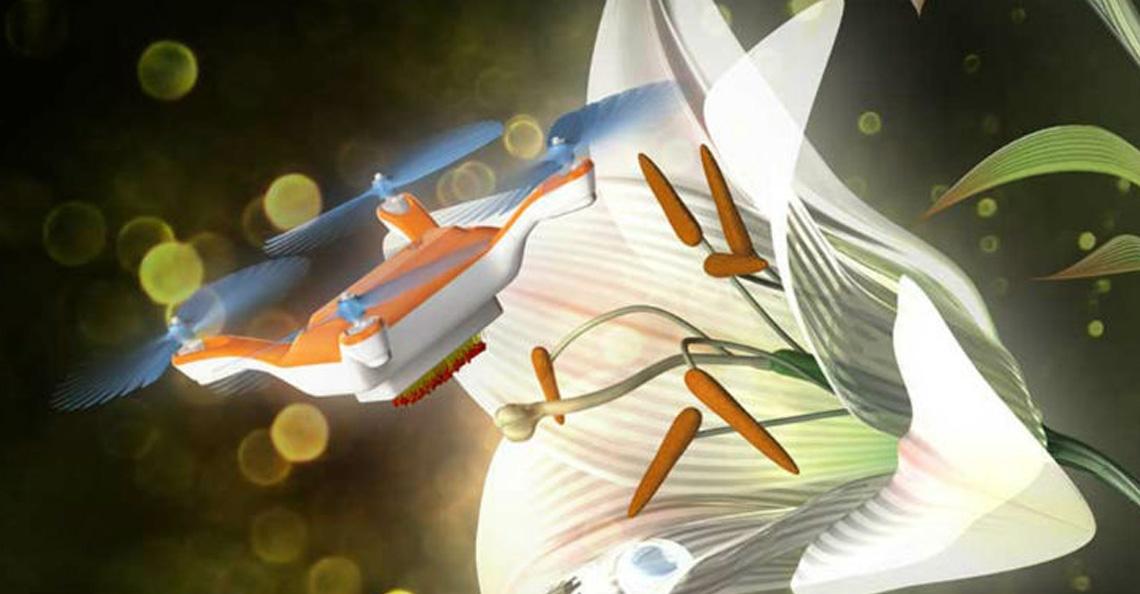 Japanse onderzoekers maken drone die taak van de bij overneemt