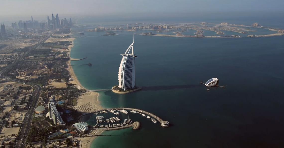 Ehang 184 wordt vliegende taxi in Dubai