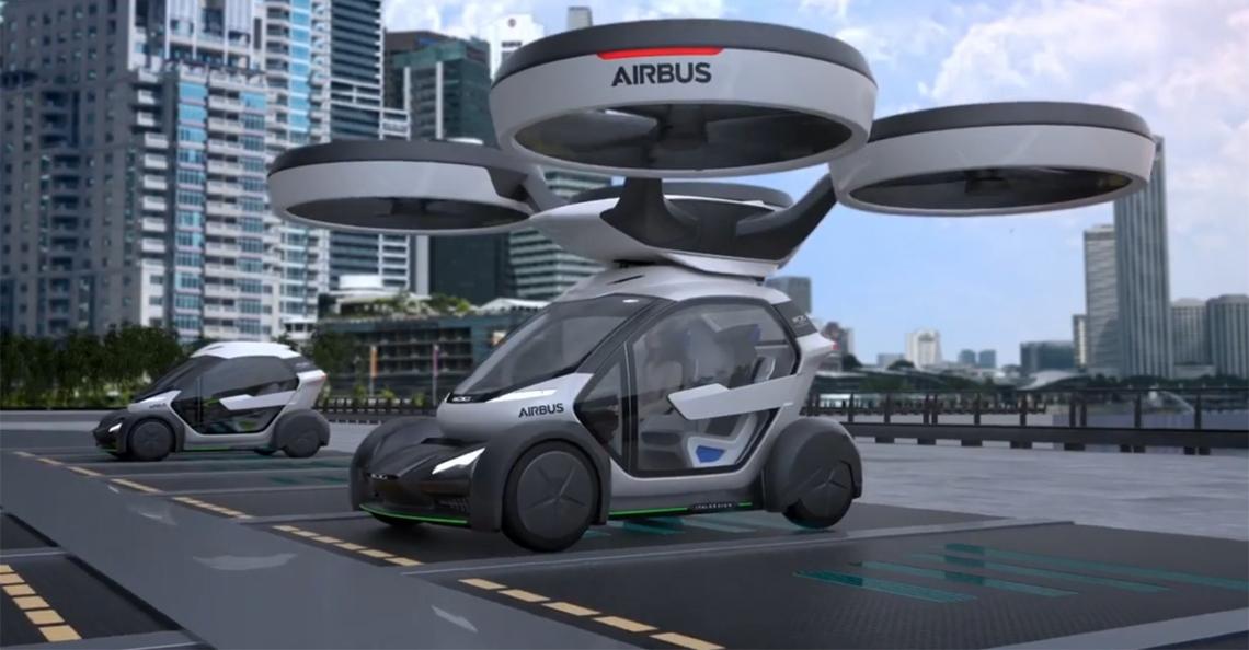 Airbus toont concept drone op autobeurs Genève