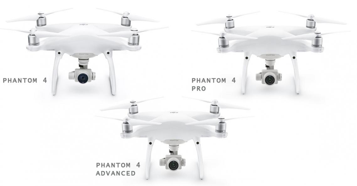 Verschillen tussen DJI Phantom 4 drones