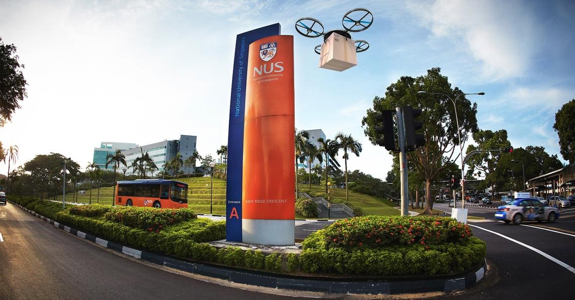 Drone pakketbezorging start begin volgend jaar op campus Singapore