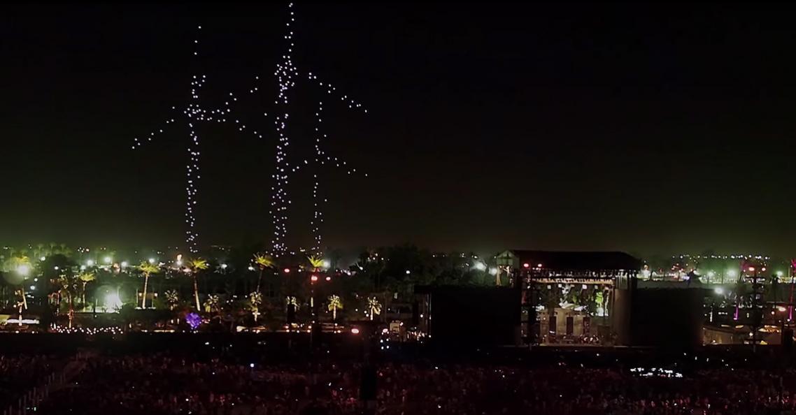 Intel verrast bezoekers Coachella festival met drone-lichtshow
