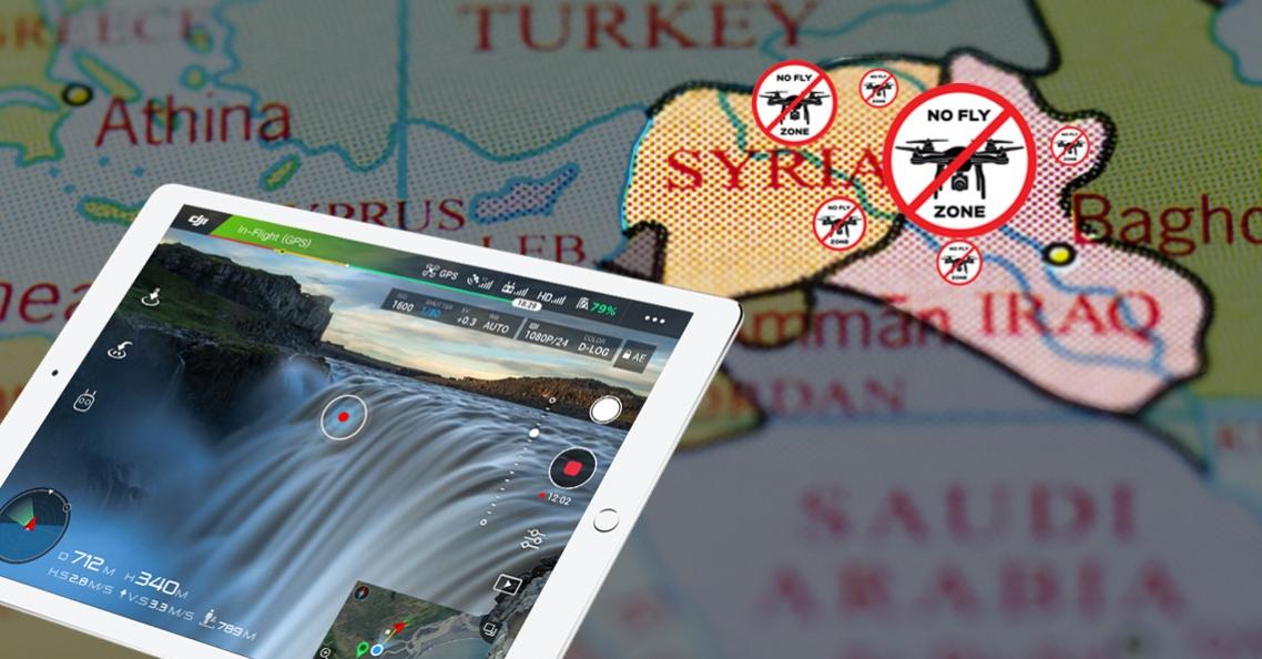 DJI voegt grote delen van Irak en Syrië toe aan No Fly Zones