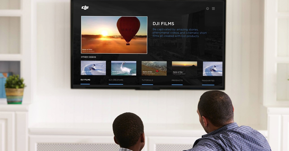DJI lanceert video applicatie voor Smart TV