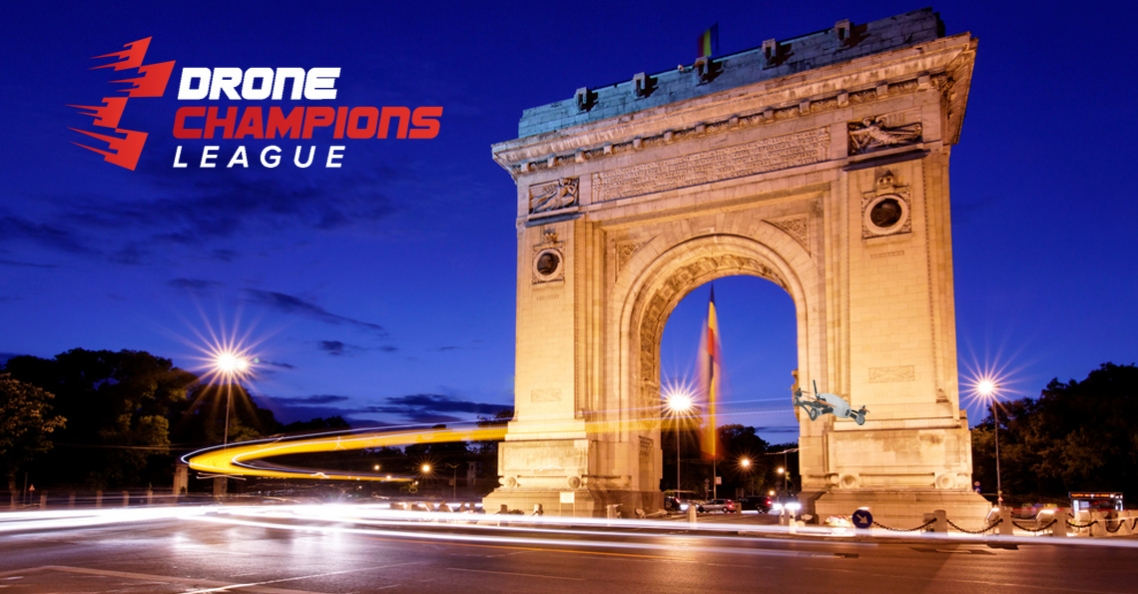 DCL dronerace op 4 juni 2017 op Champs-Élysées in Parijs