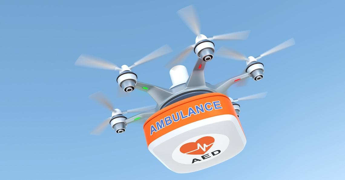 Drones met defibrillator sneller ter plaatsen dan ambulance