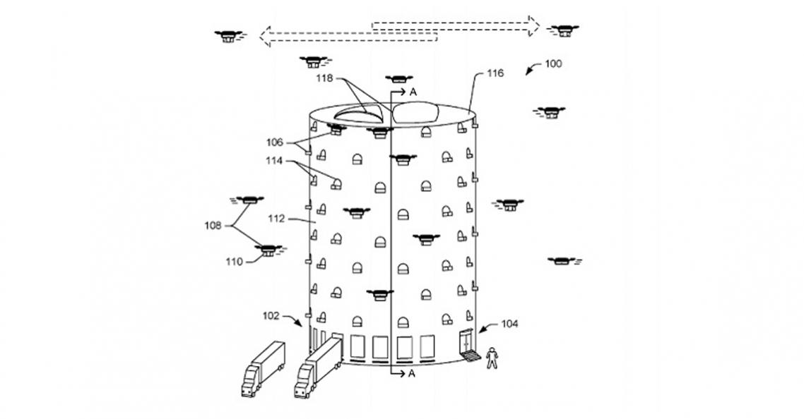 Amazon dient patent in voor dronebezorgtoren