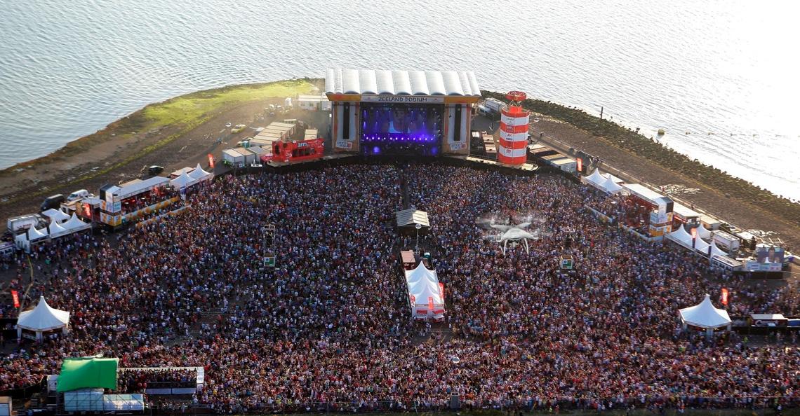 Verbod op drones bij Concert at Sea 2017