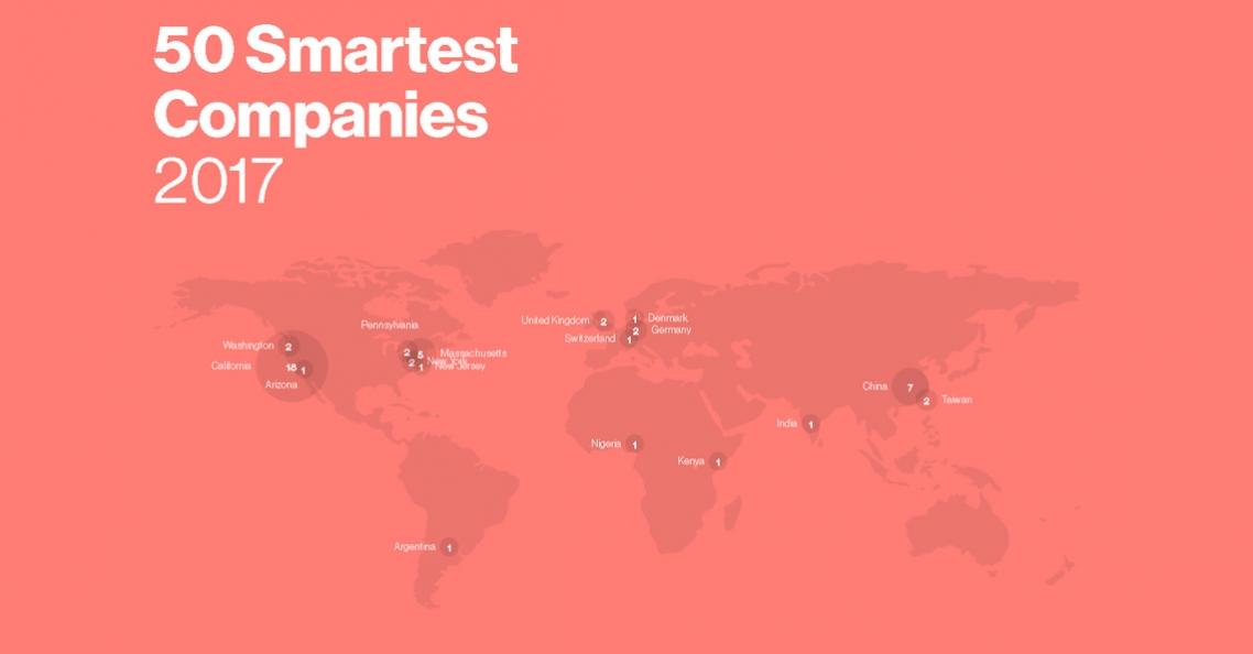 DJI op 25e plaats in top 50 slimste bedrijven ter wereld van 2017