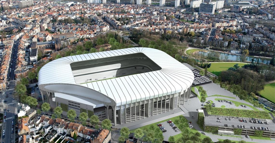 Drone presenteert nieuw Europese wedstrijdshirt RSC Anderlecht