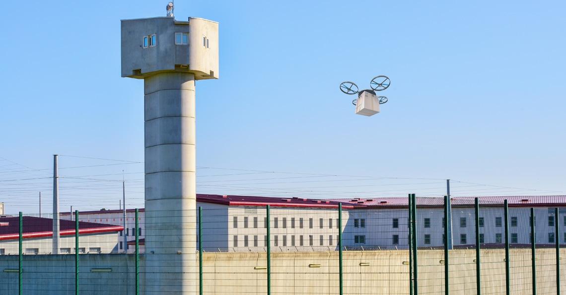 Drone bezorgt pakket in Zuid-Franse gevangenis