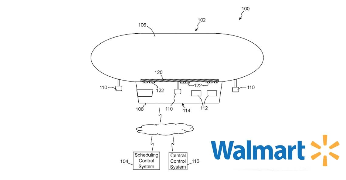 Walmart dient patent in voor vliegend distributiecentrum