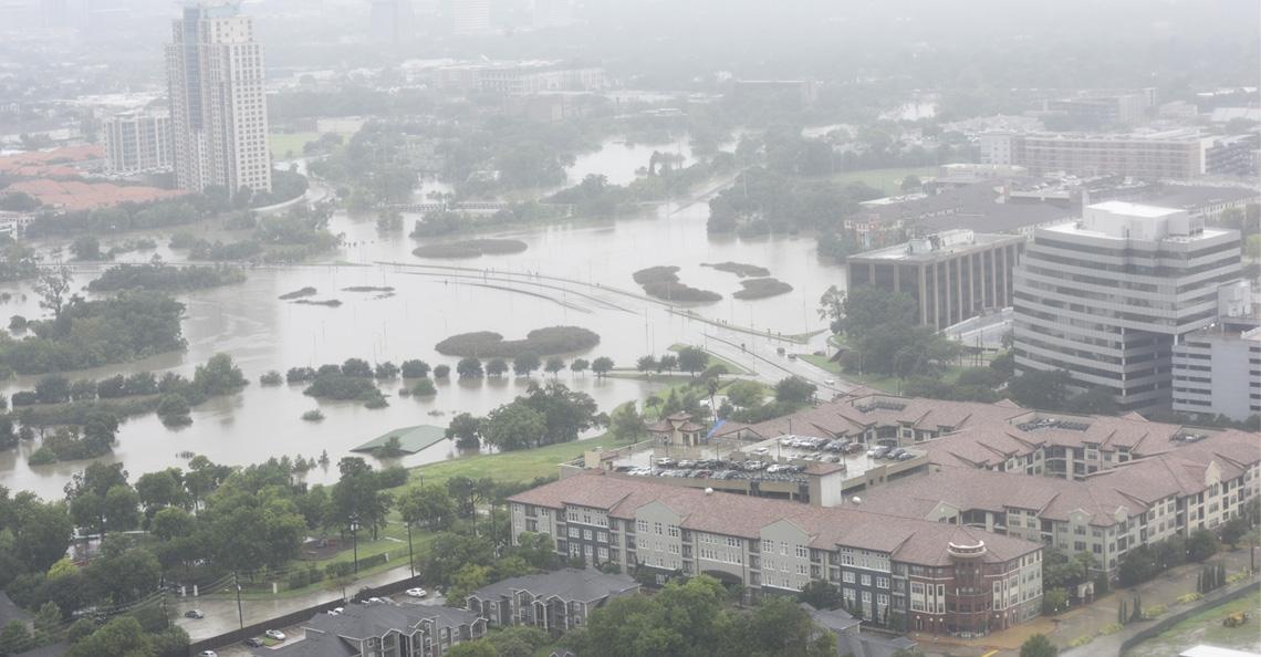 Amerikaans bedrijf zet drones in om hulpdiensten Houston te ondersteunen
